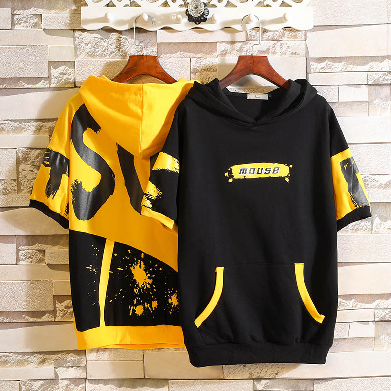 Sweater Youth fashion Others Black yellow 4XL 5XL M L XL 2XL 3XL Socket other routine summer Slim fit leisure time Large size tide routine A088-W118610 cotton 50% (inclusive) - 69% (inclusive)