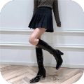 skirt Winter 2020 S. M, l, plus V: koz226 first order minus 10 Gray, black Short skirt High waist Solid color Type A