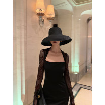 Dress Autumn 2020 Classic black S,M,L,XL Mid length dress singleton  Long sleeves One word collar High waist Socket A-line skirt routine Others Type A 81% (inclusive) - 90% (inclusive) other other