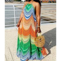 Dress Summer 2020 The design is green M,L,XL,2XL,3XL,4XL,5XL longuette singleton  Sleeveless street routine 25-29 years old Other / other polyester fiber Europe and America
