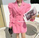 Dress Spring 2021 Blue, black, white, pink, mint S,M,L Short skirt Long sleeves