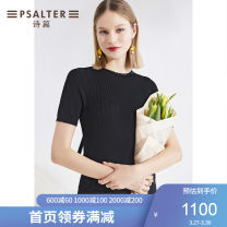 Wool knitwear Summer 2020 36 38 40 42 44 black Short sleeve singleton  other More than 95% Regular routine Straight cylinder Low crew neck routine Solid color Socket 6C30206490 30-34 years old Psalter / poem Other 100% Same model in shopping mall (sold online and offline)