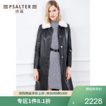 leather clothing Psalter / poem Winter 2020 36 38 40 42 44 black Long sleeves Straight cylinder routine Sheepskin Sheepskin Same model in shopping mall (sold online and offline)