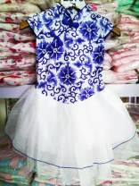 Children's performance clothes Blue and white porcelain, little peony red, big Peony Rose red, purple lotus female 4-90cm,6-100cm,8-110cm,10-120cm Other / other other nation Other 100% other 7 years old, 12 months old, 3 years old, 6 years old, 18 months old, 2 years old, 5 years old, 4 years old