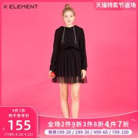 Dress Autumn of 2018 black 155/S 160/M 165/L Middle-skirt Two piece set Sleeveless street Crew neck middle-waisted Solid color Socket other routine Others 18-24 years old Type X Natural element Gauze ZIAHJA1901 91% (inclusive) - 95% (inclusive) other cotton neutral