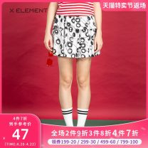 skirt Summer of 2018 155/S 160/M Black flowers on a white background Middle-skirt Sweet Natural waist Pleated skirt other Type A 18-24 years old ZSAHJC1301 More than 95% other Natural element cotton Cotton 100% Same model in shopping mall (sold online and offline) college