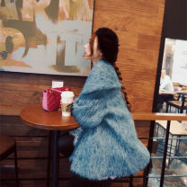 woolen coat Winter 2017 S for 8 days, m for 8 days Red, gray, blue other 71% (inclusive) - 80% (inclusive) have cash less than that is registered in the accounts Long sleeves commute other pagoda sleeve other Korean version Blue Mohair coat