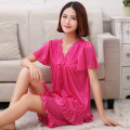 Pajamas / housewear set female Other / other M 80-100 Jin, l 100-120 Jin, XL 120-140 Jin, XXL 140-160 Jin, XXXL 160-180 Jin, XXXXL 180-200 Jin, XXXXL 190-220 Jin Iced silk Short sleeve sexy pajamas summer Thin money Crew neck Solid color Pant Socket youth 2 pieces rubber string Lace fabric lace