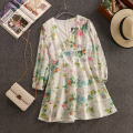 Dress Spring 2020 white S,M,L Mid length dress singleton  Long sleeves Sweet V-neck High waist Decor zipper A-line skirt routine Others 18-24 years old Type X Bandage, zipper, print 31% (inclusive) - 50% (inclusive) solar system