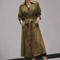 Windbreaker Summer 2020 155-2,160-4,165-6,170-8 tan Long sleeves have more cash than can be accounted for commute tailored collar routine Solid color Korean version A23110148 96% and above silk silk