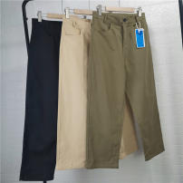 Casual pants Others Youth fashion Black, green, khaki S,M,L,XL,2XL routine trousers Other leisure easy No bullet 40C10 spring teenagers tide 2021 middle-waisted Straight cylinder Haren pants Solid color cotton Domestic famous brands