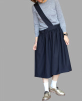 skirt Summer 2016 S, M Navy Blue Middle-skirt Versatile low-waisted Irregular Solid color Type A wool 401g / m ^ 2 (inclusive) - 500g / m ^ 2 (inclusive)