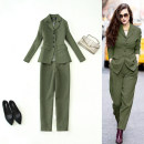 Professional pants suit S,M,L,XL Autumn of 2019 loose coat Long sleeves trousers 25-35 years old 51% (inclusive) - 70% (inclusive) polyester fiber