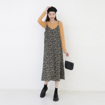 Fashion suit Spring 2021 Average size Black base, rice apricot skirt, yellow apricot base, black skirt Other / other 905de/ej 91% (inclusive) - 95% (inclusive) cotton