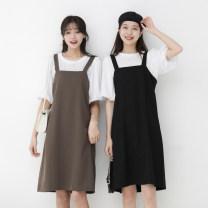 Fashion suit Summer 2021 Average size Coconut brown set, black set Other / other 980ef 30% and below spandex