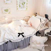 Bedding Set / four piece set / multi piece set cotton Quilting Solid color 133X76 Other / other cotton 4 pieces 40 1.2m (4 ft) bed, 1.5m (5 ft) bed, 1.8m (6 ft) bed, 2.0m (6.6 ft) bed Bed skirt Simplicity 100% cotton twill Reactive Print