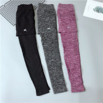 Fitness pants S/M,L/XL female Black, gray Other / other Yoga, fitness equipment Ninth pants High waist Tight trousers nylon