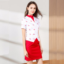 Professional dress suit Spring 2020 Short sleeve Shirt, other styles other 18-25 years old Zhiqi pinshang 71% (inclusive) - 80% (inclusive) polyester fiber