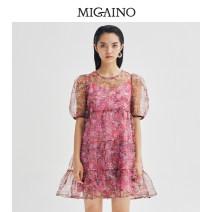 Fashion suit Summer 2021 150/58A/XS 155/62A/S 160/66A/M 165/70A/L 170/74A/XL Foundation flower Migaino / manyanu ML22DA141 Polyester 96.2% polyurethane elastic fiber (spandex) 3.8% Same model in shopping mall (sold online and offline)