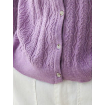 Wool knitwear Spring 2020 Average size Purple, light green, black, apricot, gamboge, light pink Long sleeves singleton  Cardigan other 30% and below Regular routine Sweet Straight cylinder Low crew neck routine Solid color Single breasted solar system