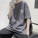T-shirt like a breath of fresh air teenagers routine Geometric pattern 2020 Youth fashion easy summer Short sleeve routine Other leisure printing Zijun Crew neck Non iron treatment M,L,XL,2XL white , black , dark grey ,> Click to view size < ( Select color in front )