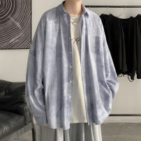 shirt Youth fashion Zijun M,L,XL Black, gray, blue, > Click to view size < (select color in front) routine Pointed collar (regular) Long sleeves easy Other leisure spring teenagers tide 2021