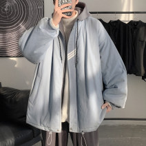 cotton-padded clothes Black, gray, > Click to view size < (select color in front) Zijun M,L,XL Youth fashion thickening routine easy Other leisure Hood youth zipper tide other Solid color Side seam pocket pocket No iron treatment