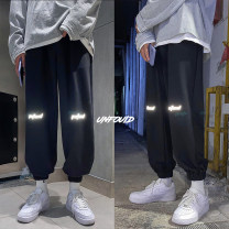 Casual pants Zijun Youth fashion Black, gray, > Click to view size < (select color in front) M,L,XL,2XL routine trousers Other leisure easy Micro bomb summer teenagers tide 2020 middle-waisted Little feet Sports pants Pocket decoration No iron treatment other other