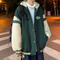 cotton-padded clothes Black, green, dark gray, > Click to view size < (select color in front) Zijun M,L,XL Youth fashion routine routine easy Other leisure Hood teenagers zipper tide Cloth hem Side seam pocket Color contrast other
