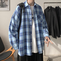shirt Youth fashion Zijun M,L,XL Blue, green, red, > Click to view size < (select color in front) routine Pointed collar (regular) Long sleeves easy Other leisure spring teenagers like a breath of fresh air 2021 lattice
