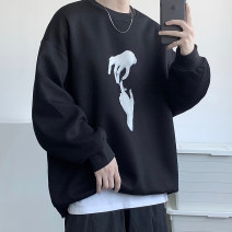 Sweater Youth fashion Zijun Black, white, gray, > Click to view size < (select color in front) M,L,XL,2XL Cartoon animation Socket Plush Crew neck easy leisure time teenagers tide routine polyester fiber printing No iron treatment Save pocket