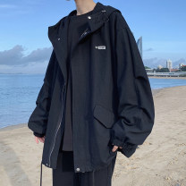 Jacket Zijun Youth fashion Black, gray, apricot, > Click to view size < (select color in front) M,L,XL,2XL routine easy Other leisure autumn Long sleeves tide teenagers routine Zipper placket 2020 No iron treatment Closing sleeve