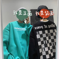 Sweater Youth fashion Zijun Black, white, green, > Click to view size < (select color in front) M,L,XL,2XL letter Socket routine Crew neck autumn easy leisure time teenagers tide routine cotton printing No iron treatment Save pocket Japanese and Korean style