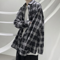 shirt Youth fashion Zijun M,L,XL Black, white, > Click to view size < (select color in front) routine Pointed collar (regular) Long sleeves easy Other leisure autumn teenagers tide 2020 lattice Plaid No iron treatment cotton