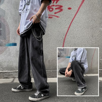 Jeans Youth fashion Zijun M,L,XL,2XL Dark blue, light blue, black gray, > Click to view the size < (select the color in front) routine trousers Other leisure spring teenagers Loose straight tube tide 2021 Straight foot