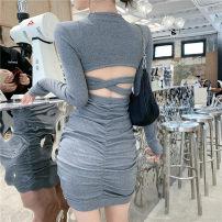 Dress Spring 2021 Gray, black Average size