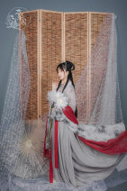 National costume / stage costume Winter of 2018 Printed shangru full 88, grey one piece skirt full 158, bamboo full 38, gilded red full 36, grey big sleeve full 128 S. M, l, XL, XXL, one size fits all