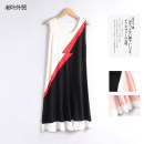 Dress Summer 2021 Pink, black, blue, green Average size Mid length dress Sleeveless commute A0929 30% and below other other