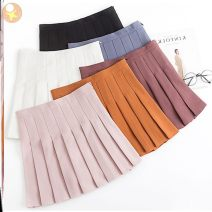 skirt Summer 2020 S,XL,XS,L,M,XXL M-black-m45, l-white-h43, c-gray-k83 Short skirt fresh High waist Pleated skirt Solid color Type A 18-24 years old other Other / other other Ruffles, hollowed out, pleated, pleated, asymmetric, button, zipper, stitching, patching