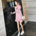 Dress Autumn 2020 Pink, black, red, pink [Plush], black [Plush], red [Plush] S,M,L,XL,2XL Mid length dress singleton  Long sleeves commute Hood Loose waist Solid color Socket A-line skirt routine Others 25-29 years old Type A Korean version 8678-1 51% (inclusive) - 70% (inclusive) other cotton