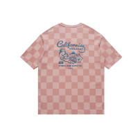 T-shirt Youth fashion Pink thick S,M,L,XL,XS NOTHOMME Short sleeve Crew neck easy daily summer 19T004 Cotton 100% youth tide Cotton wool 2019 printing cotton Geometric pattern Designer brand