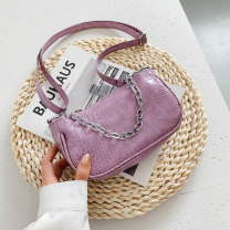 Mobile phone bag PU Miriam White, black, purple, green brand new zipper Solid color Sweet Lady  female Horizontal style youth Crocodile pattern other Bright side