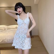 Nightdress Other / other milky white 160(M),165(L),170(XL),155(S) camisole Short skirt summer V-neck three point one five