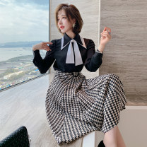 Fashion suit Spring 2021 XS,S,M,L,XL,2XL,3XL Black + check miuco T1531S1228