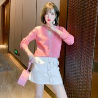 Fashion suit Spring 2021 XS,S,M,L,XL,2XL,3XL Pink + white miuco