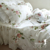 Bedding Set / four piece set / multi piece set cotton Quilting, other Plants and flowers 173X118 TSMXGZJF cotton 4 pieces 60 1.2m (4 ft) bed, 1.5m (5 ft) bed, 1.8m (6 ft) bed, 2.0m (6.6 ft) bed Bed skirt Superior products Korean style 100% cotton