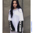 T-shirt Orange, white, emerald green, black Average size Spring 2020 Long sleeves Crew neck Fake two pieces Regular routine commute cotton 31% (inclusive) - 50% (inclusive) 18-24 years old Korean version youth letter Other / other printing