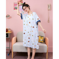 Nightdress Damos.love/daimengsi Picture color 160(M) 165(L) 170(XL) Cartoon Short sleeve Leisure home Middle-skirt summer Cartoon animation youth Crew neck cotton printing 41% (inclusive) - 60% (inclusive) Modal fabric DMS140RC40359 200g and below Summer 2021 Pure e-commerce (online only)