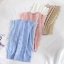 Vest sling Summer 2020 Blue, pink, white, khaki, black Average size singleton  have cash less than that is registered in the accounts Self cultivation commute Solid color 18-24 years old