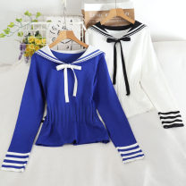 Wool knitwear Autumn 2020 Average size Blue, black, white Long sleeves singleton  Socket other 30% and below Regular routine commute Self cultivation routine Solid color Korean version 18-24 years old